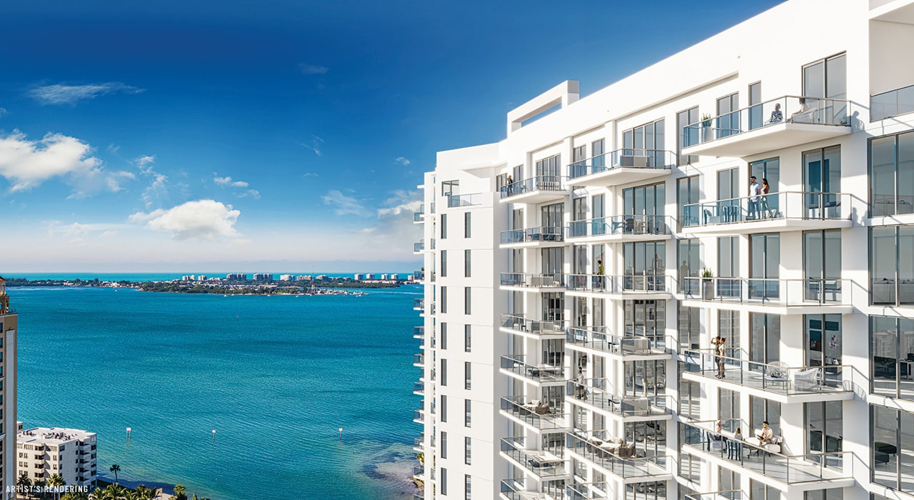 Rendering of Bayso and the bayfront in sarasota